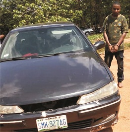 Serial car  snatcher arrested, says he uses 'juju' to hypnotise victims