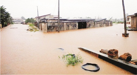 Averting flood in prone areas