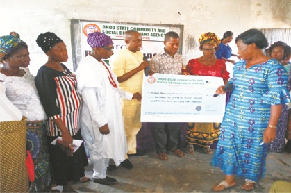 ODCSDA presents N69m to communities