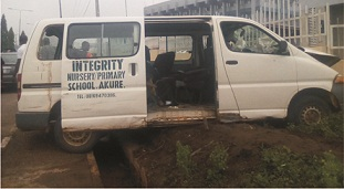 Pupils escape death in Akure autocrash