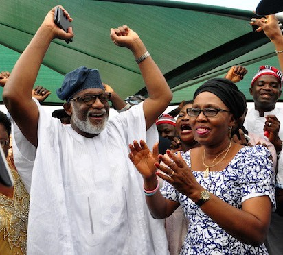 2020: Ondo Youths drum support for Akeredolu