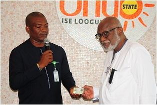 Akeredolu gets National ID, promises support for continuous registration