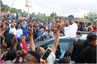 Olowo-elect makes triumphant entry