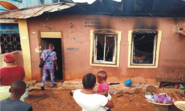 Fire razes property in Ondo