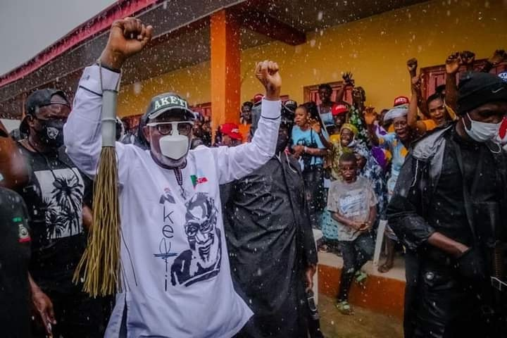Ondo 2020: Akeredolu/Aiyedatiwa campaign train storms Irele LGA today
