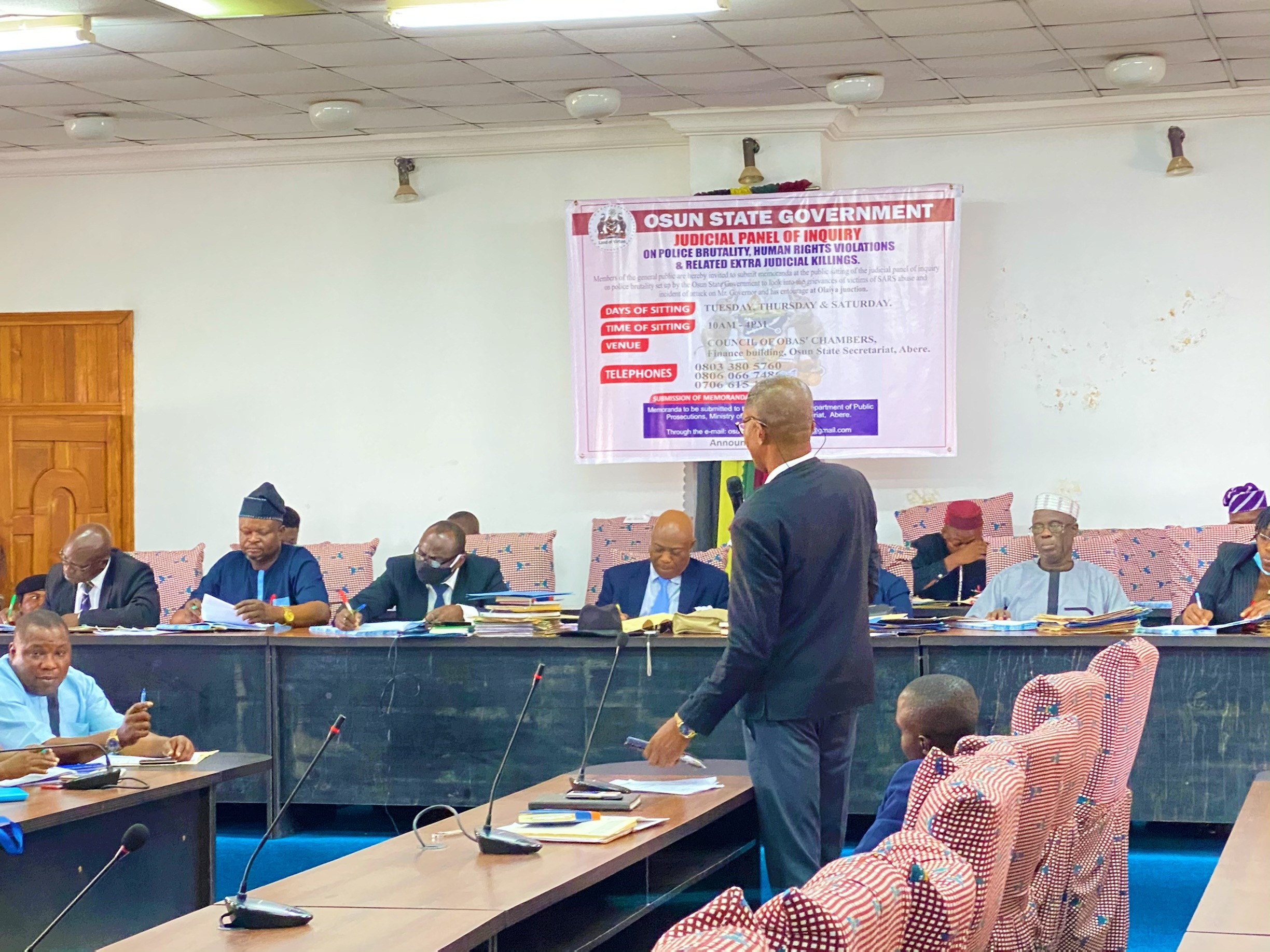Osun panel of inquiry receives fresh petitions